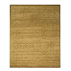 Hand-tufted Brown Wool Area Rug (7'9 x 9'9)