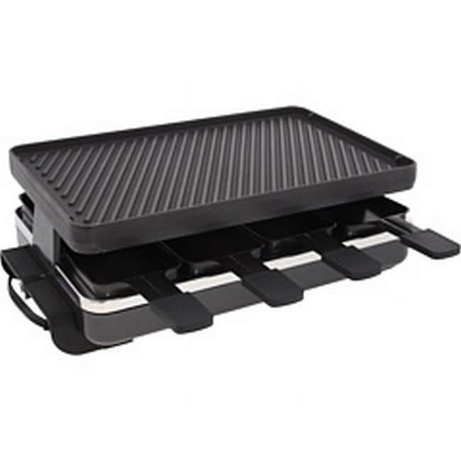 Swissmar KF-77040 8 Person Classic Raclette Party Grill With Reversible Cast Iron Plate