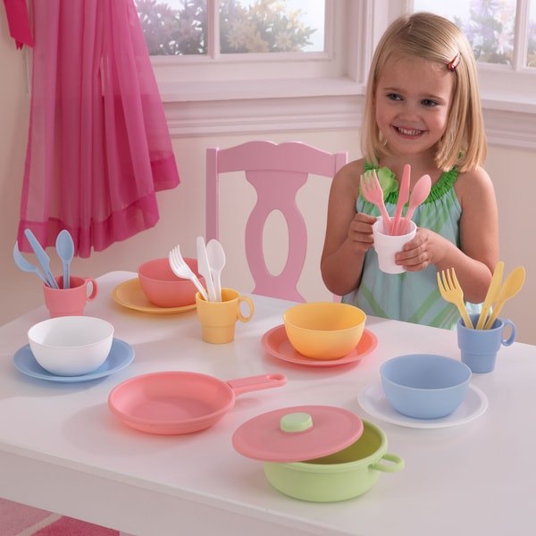 Kid Kraft 27-piece Pastel Cookware Set