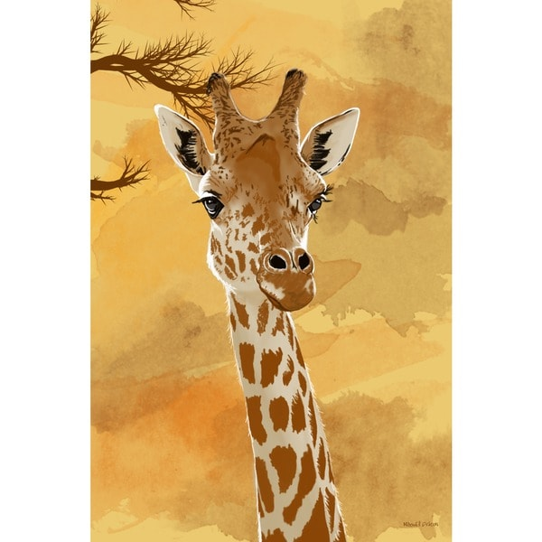 Maxwell Dickson U0026#x27;Giraffeu0026#x27; Canvas Wall Art