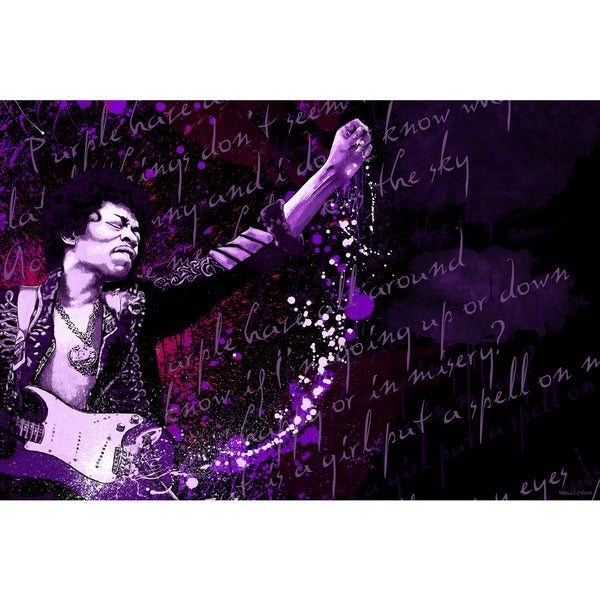 Maxwell Dickson U0026#x27;Jimi Hendrix Purple Hazeu0026#x27; Canvas Wall Art