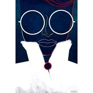 Maxwell Dickson 'Glasses Girl' Canvas Wall Art