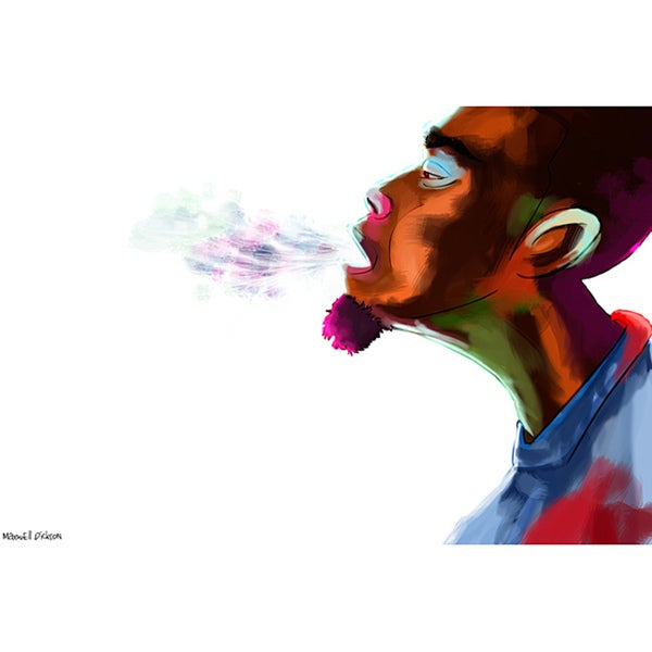 Maxwell Dickson 'Guy Breath' Canvas Wall Art