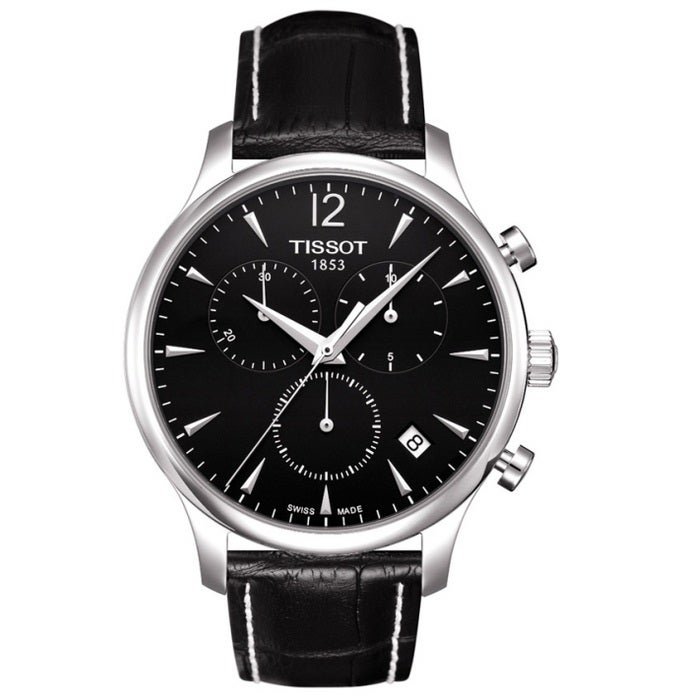Tissot Men's T0636171605700 'Tradition' Leather Strap Chronograph Watch