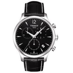 Tissot Men's T0636171605700 'Tradition' Leather Strap Chronograph Watch|https://ak1.ostkcdn.com/images/products/6308013/78/144/Tissot-Mens-T0636171605700-Tradition-Leather-Strap-Chronograph-Watch-P13936873.jpg?impolicy=medium