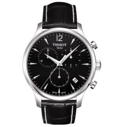 Tissot Men's 'Tradition' Leather Strap Chronograph Watch