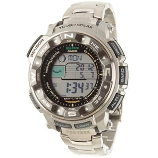 Casio Men's Pathfinder 'Pro Trek' Tough Solar Atomic Watch|https://ak1.ostkcdn.com/images/products/6308040/Casio-Mens-Pathfinder-Pro-Trek-Tough-Solar-Atomic-Watch-P13936900L.jpg?impolicy=medium