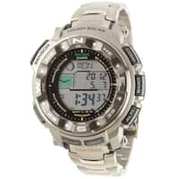 Casio Men's Pathfinder 'Pro Trek' Tough Solar Atomic Watch - black