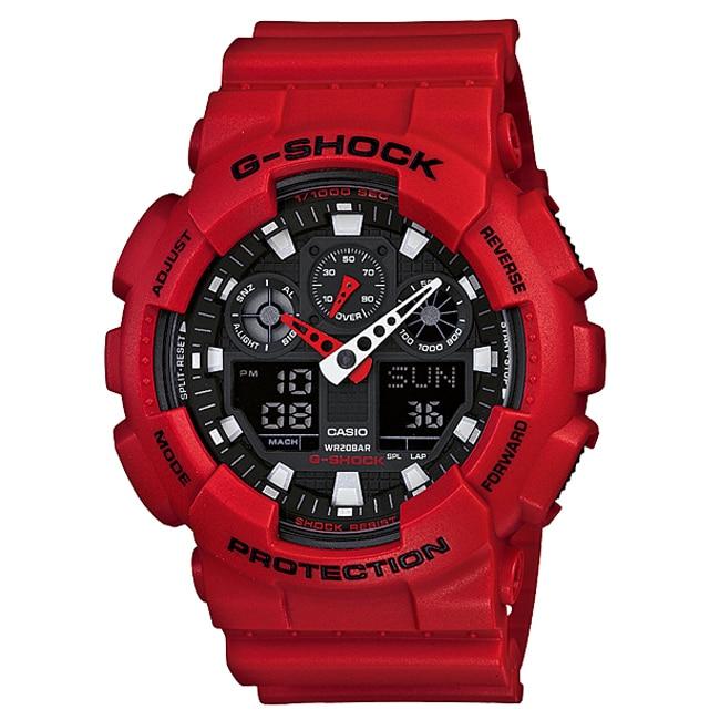 Casio Men's 'G-shock' Resin Analog-digital Watch (GA100B-...