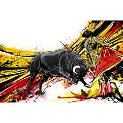 Maxwell Dickson 'Bull Fighter' Canvas Wall Art