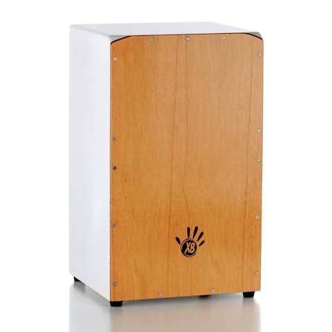 Handmade Asian Oak and Sungkai Wood Cajon Drum (Indonesia)