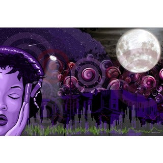 Maxwell Dickson 'Midnight Vibes' Canvas Wall Art
