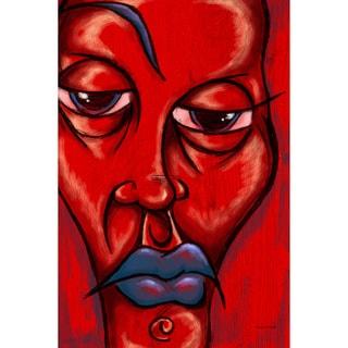 Maxwell Dickson 'Blue Lip' Canvas Wall Art