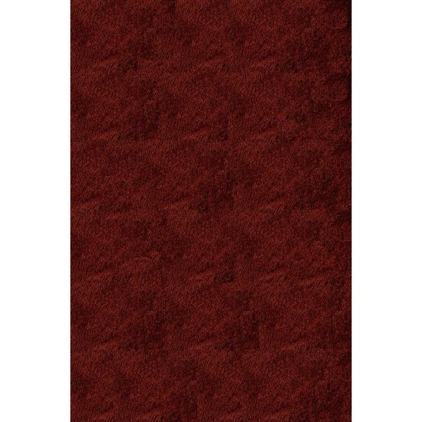 Handmade Posh Brick Red Shag Rug (8' x 10')