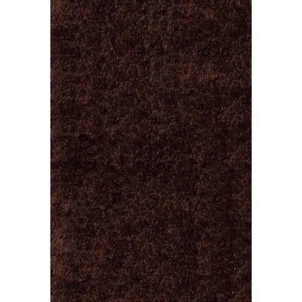 Momeni Luster Shag Brown Hand-Tufted Shag Rug (3' X 5')