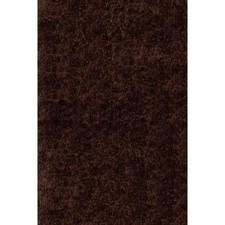 Handmade Posh Chocolate Brown Shag Rug (3' x 5')