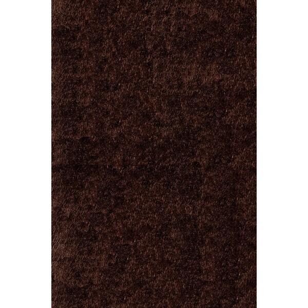 Handmade Posh Chocolate Brown Shag Rug (8' x 10')