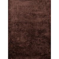Momeni Luster Shag Brown Hand-Tufted Shag Rug - 8' x 10'