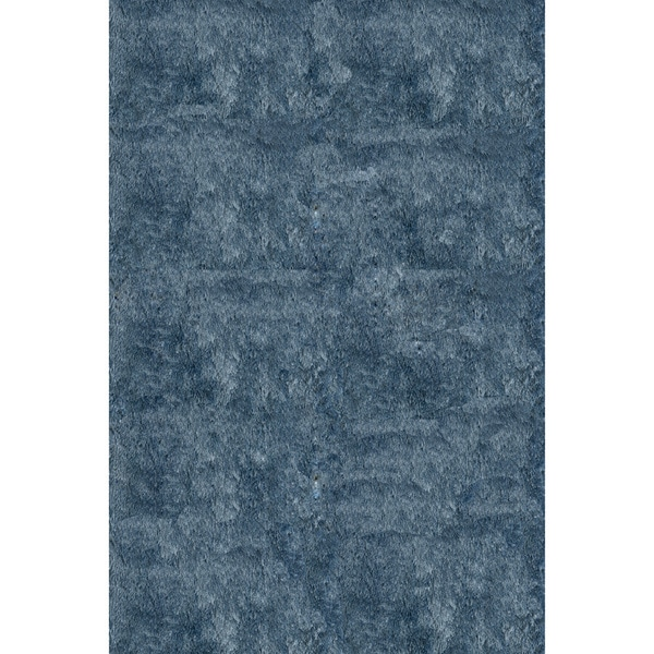 Momeni Luster Shag Light Blue Hand-Tufted Shag Rug - 8' x 10'