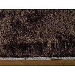 Handmade Posh Chocolate Brown Shag Rug (5' x 7') - Thumbnail 1