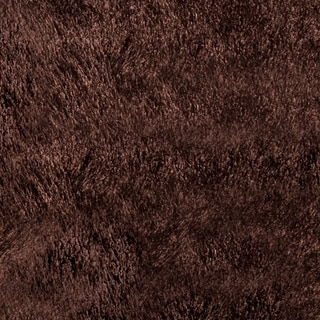 Momeni Luster Shag Brown Hand-Tufted Shag Rug - 5' x 7'