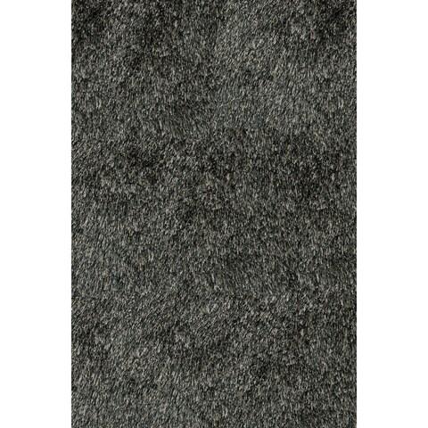 Momeni Luster Shag Carbon Hand-Tufted Shag Rug (8' X 10') - 8' x 10'