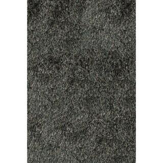 Handmade Posh Charcoal Shag Rug (8' x 10')