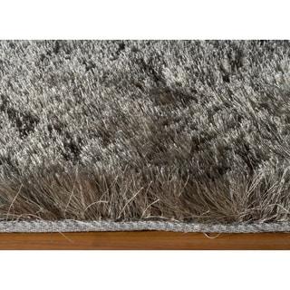 Handmade Posh Grey Shag Rug (5' x 7')