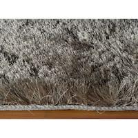 Momeni Luster Shag Grey Hand-Tufted Shag Rug (5' X 7') - 5' x 7'