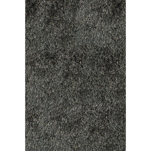 Momeni Luster Shag Carbon Hand-Tufted Shag Rug - 3' x 5'