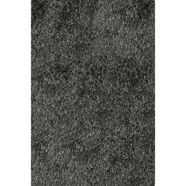 Handmade Posh Charcoal Shag Rug (5' x 7')