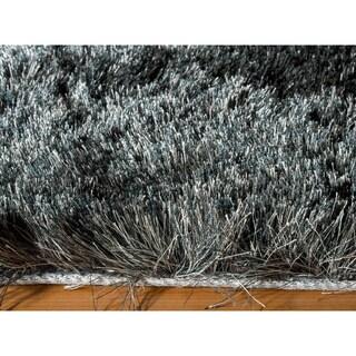 Momeni Luster Shag Carbon Hand-Tufted Shag Rug (5' X 7')