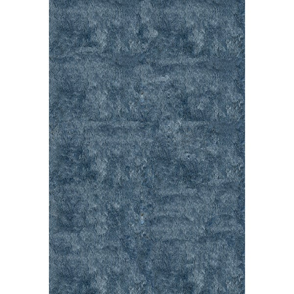 Handmade Posh Light Blue Shag Rug (5 x 7)