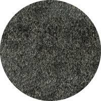 Momeni Luster Shag Carbon Hand-Tufted Shag Rug - 4' x 4'