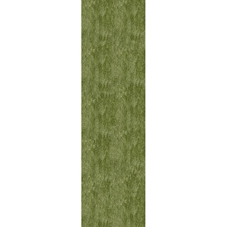 Momeni Luster Shag Apple Green Hand-Tufted Shag Runner Rug (2'3 X 8')