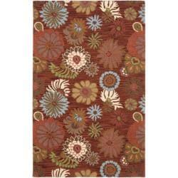Safavieh Handmade Blossom Red Wool Area Rug (4' x 6')