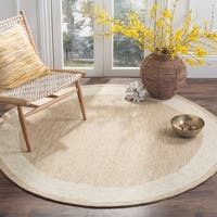 Safavieh Hand-hooked Easy Care Gabbeh Natural Rug - 8' X 8' Round