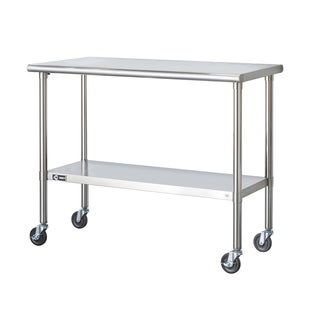 trinity stainless steel table with caster kit free shipping