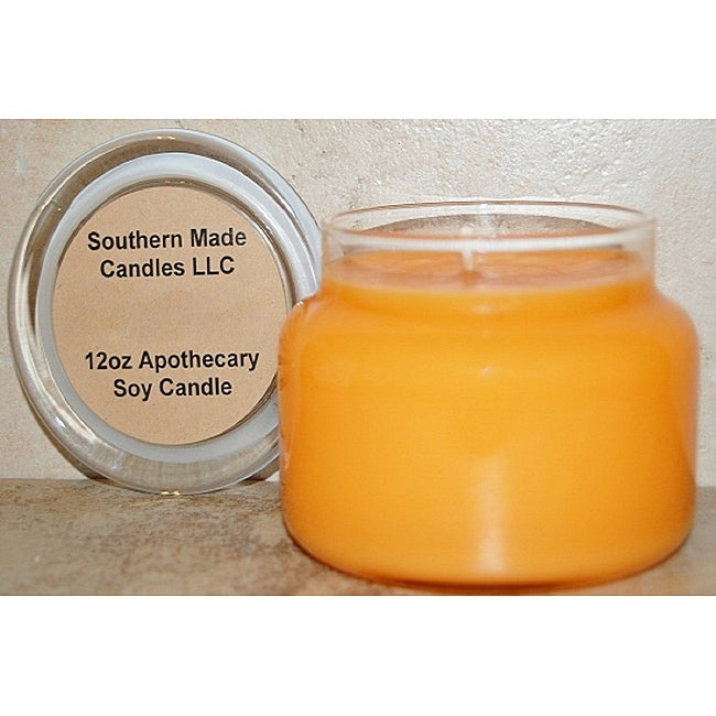 Southern Made Candles Soy 12-oz Pumpkin Souffle Apothecary Candle