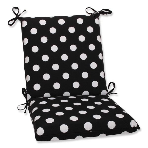 Black And White Polka Dot Airgo Chair: Shop Pillow Perfect Outdoor Black/ White Polka Dot Square