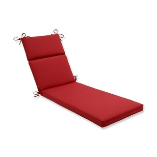 Pillow Perfect Outdoor Red Chaise Lounge Cushion
