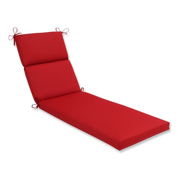 Pillow Perfect Outdoor Red Chaise Lounge Cushion  sc 1 st  Overstock.com : chaise pillow - Sectionals, Sofas & Couches