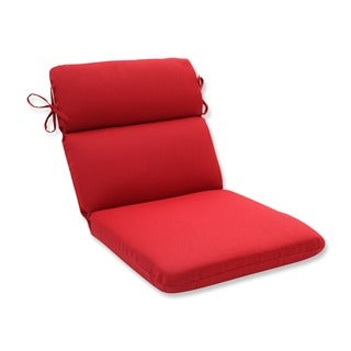 Pillow Perfect Outdoor Red Rounded Chair Cushion