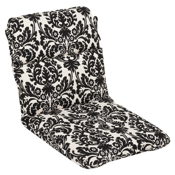 Shop Pillow Perfect Outdoor Black Beige Damask Round