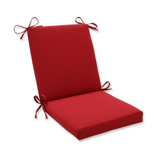 Pillow Perfect Outdoor Red Solid Square Chair Cushion