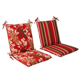 Shop Pillow Perfect Outdoor Red Brown Reversible Square