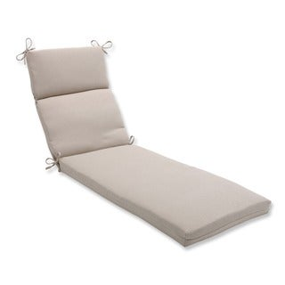 Pillow Perfect Outdoor Beige Solid Chaise Lounge Cushion