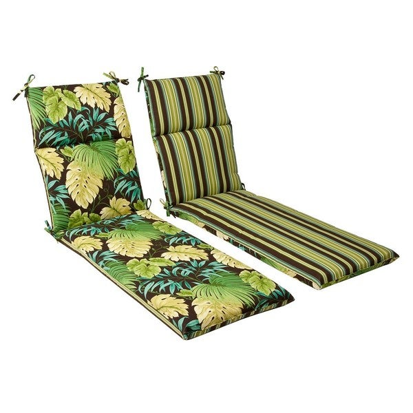 Shop Pillow Perfect Outdoor Green Brown Tropical Striped