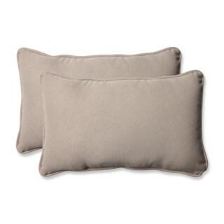 Pillow Perfect Outdoor Beige Rectangle Toss Pillows (Set of 2)