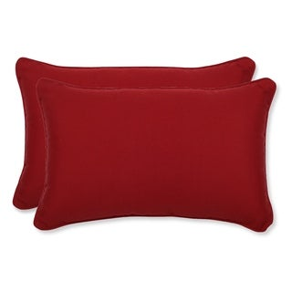 Pillow Perfect Decorative Red Polyester Outdoor Toss Pillows (Set of 2)